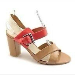 Rampage Colorblock Heel Sandals